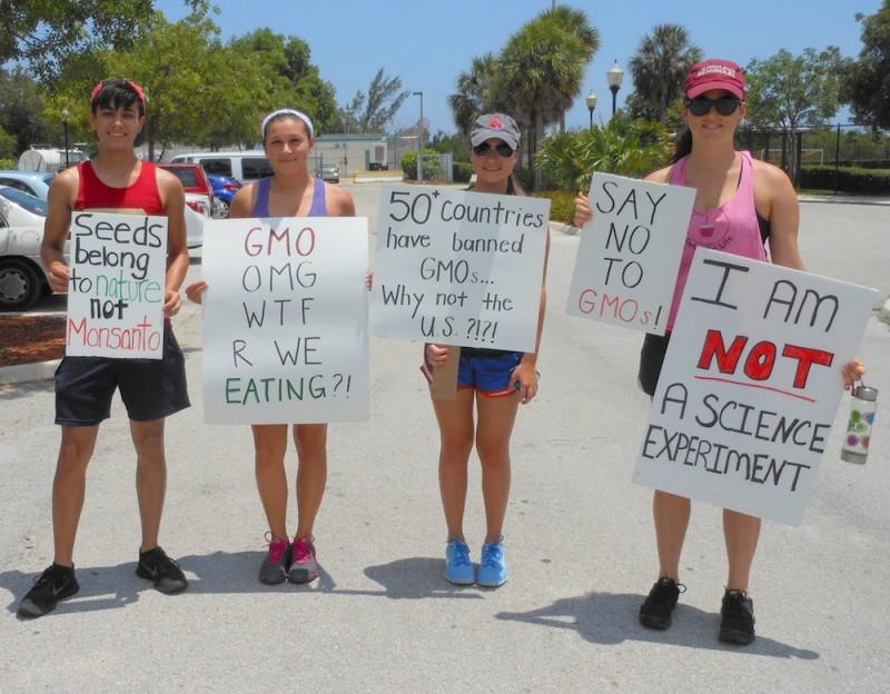 Demonstrators in March Against Monsanto