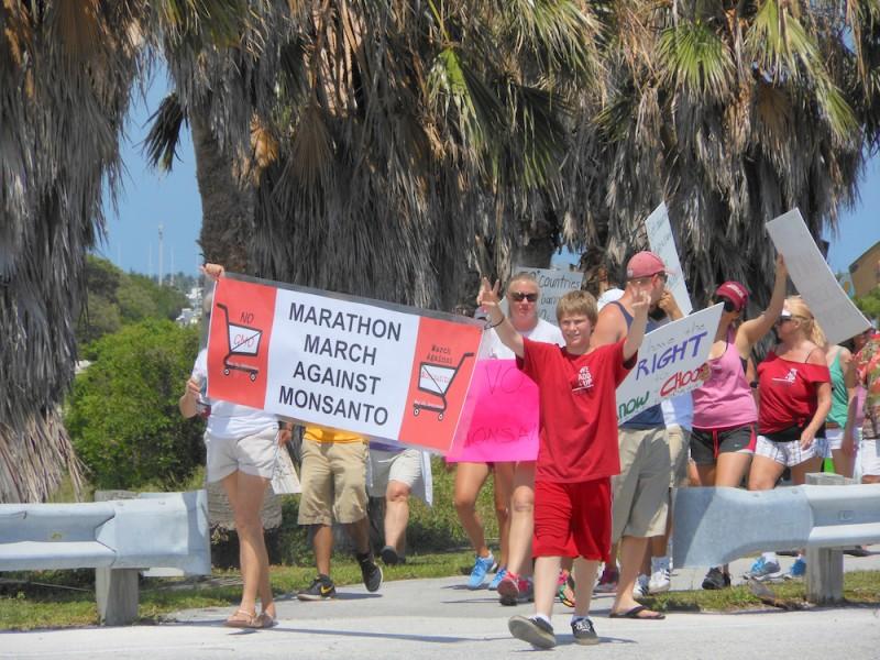 March Against Monsanto Arrives At 7 Mile Bridge