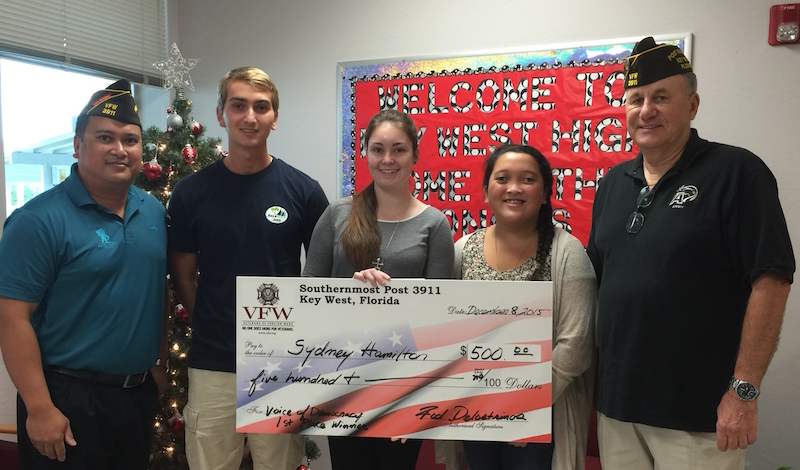 Southernmost vfw announces local essay contest winners key west