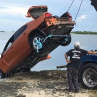 Stolen Car Pulled From Water - Rockland Key