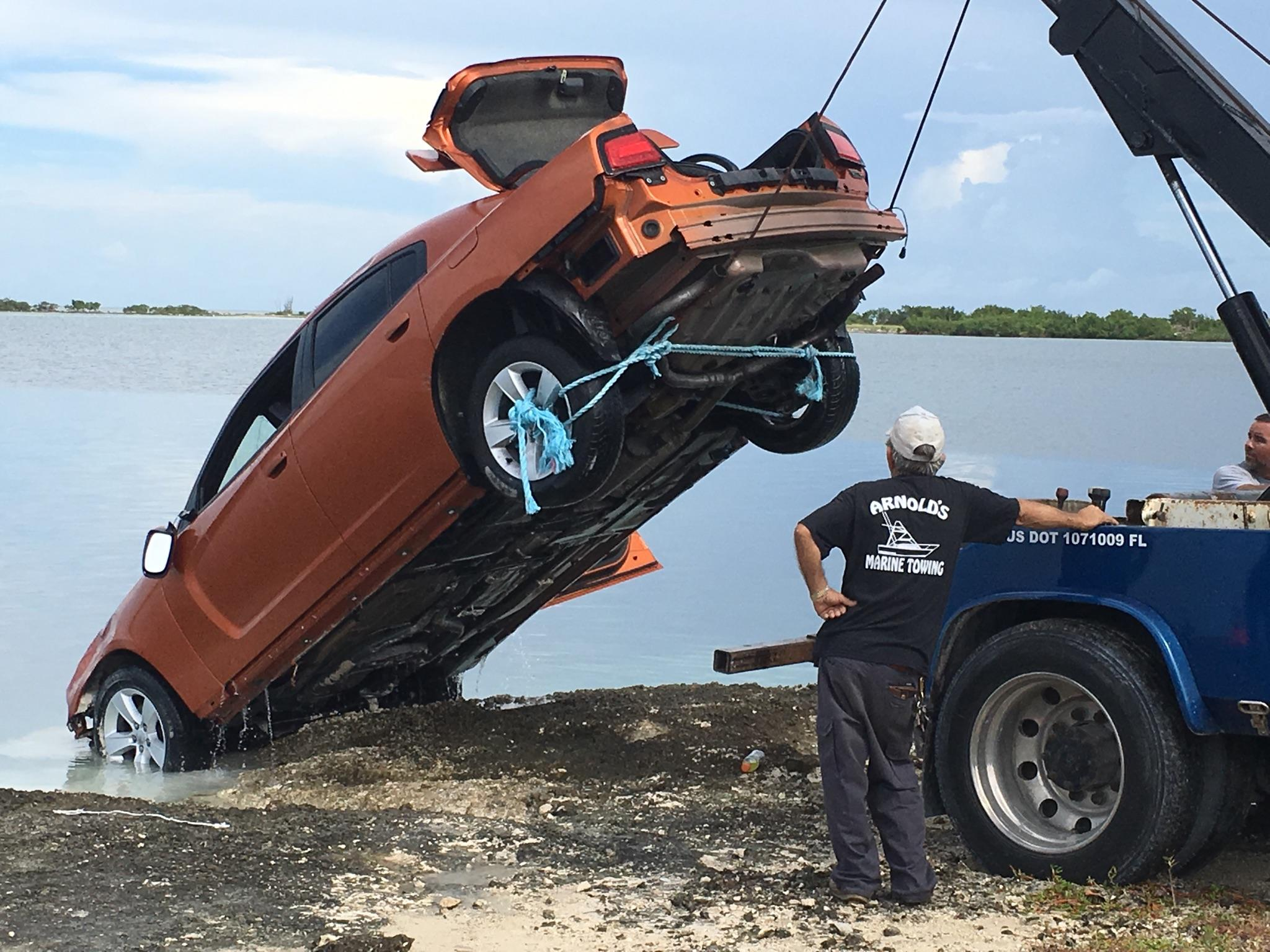 Key West The Newspaper Stolen Car Pulled From Water Rockland Key - Stolen car