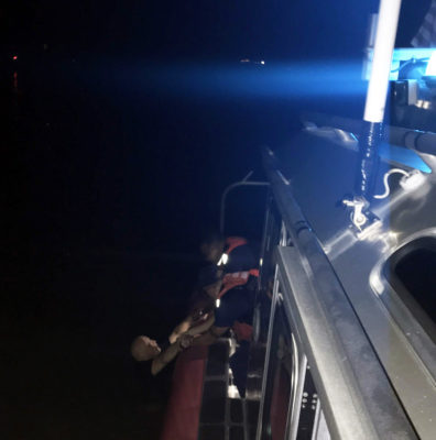 Coast Guard Pulls Man From Water in Boot Key Harbor