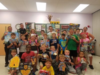 Donated LEGOS Go to Kids