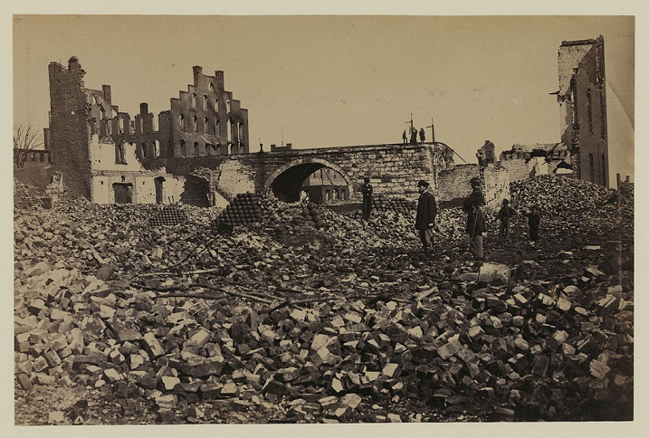 """Ruins in Richmond"" Damage to Richmond, Virginia from the American Civil War."