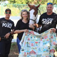 Key West Designer Jane Gardner Trots Out Fundraising Campaign for KWPD Mounted Police Unit