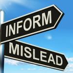 inform mislead