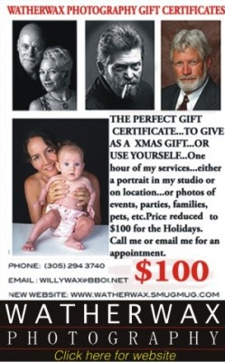 Watherwax Photography Gift Certificates Make A Great Holiday Gift