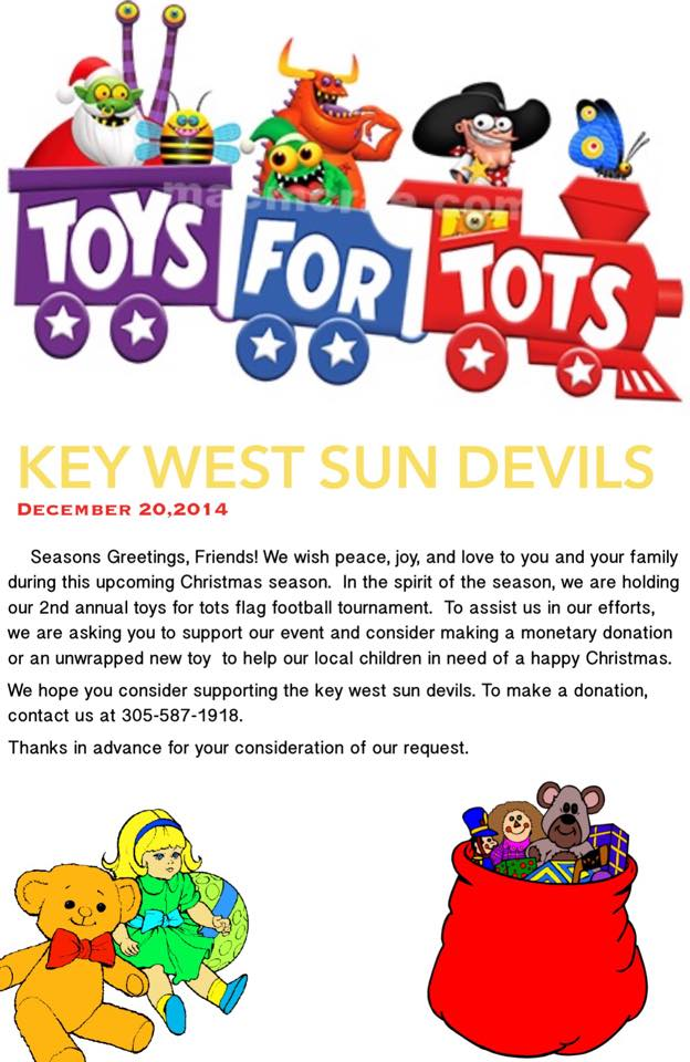 Announcement Email Sample Toys For Tots : Key west sun devils seeking donations for toys tots