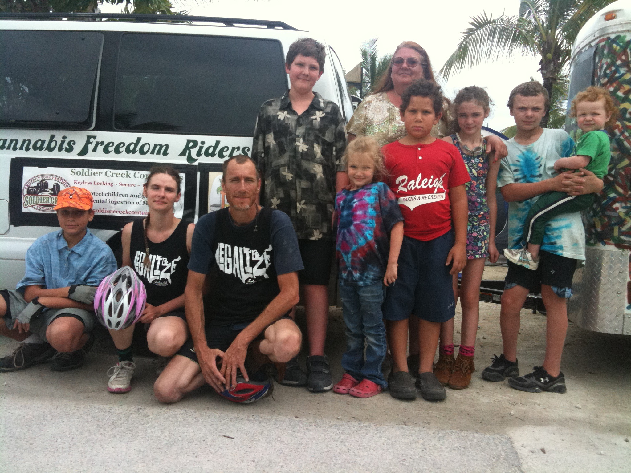 Left to Right: Dakota, Shirley and Ken Locke, Garret, Becky Keith, Electra, Matthew, Ariel, David, Xavier