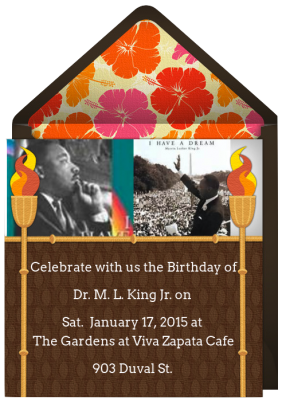 Celebrate Dr. Martin Luther King Jr.'s Birthday at Viva Zapata This Year