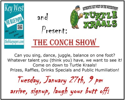 THE CONCH SHOW, JANUARY 27TH 9 PM