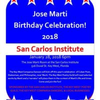 Jose Marti Birthday Celebration