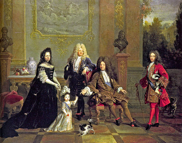 Louis XIV (seated) and family. (Image credit: Wikipedia)