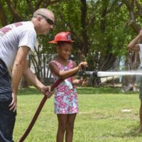 Kids 'Beat the Heat' at Monroe County Fire Rescue's Community Event