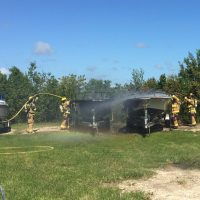Monroe County Fire Rescue Puts Out Boat Fire on Little Torch Key