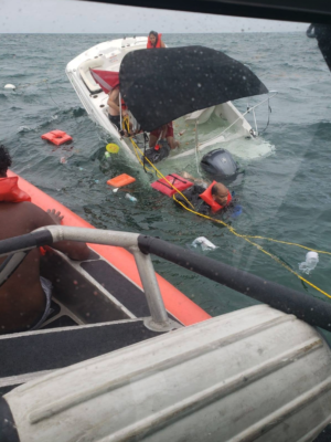 Coast Guard Rescues 9 People on 19-Foot Boat