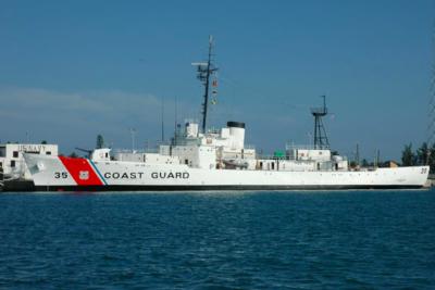 Osprey Shot Off Mast of US Coast Guard Cutter Ingham