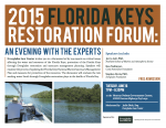 2015 Florida Keys Restoration Forum: An Evening With The Experts