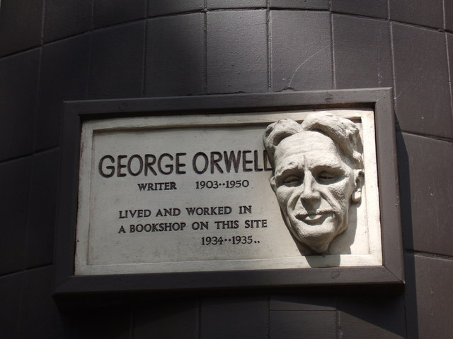 George Orwell in Hampstead On the corner of Pond Street and South End Road, opposite the Royal Free Hospital. The bookshop has long gone. (Photo credit: Wikipedia)