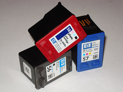 HP cartridge (56, 57, 58) (Photo credit: Wikipedia)