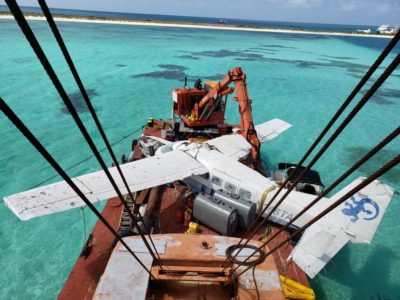Sunken Seaplane Brought Back to Key West