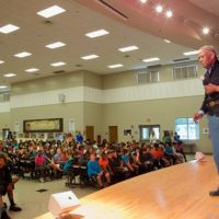 """Civil War Reenactor Addresses 650 HOB Students - """"African-Americans in the Naval Forces"""""""