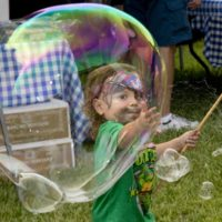 This Saturday, Bubble Play for Children and Adults on the Oldest House Lawn