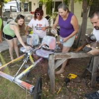 Putting a Spin on it: Papio Ambassadors prepare for Papio Kinetic Sculpture Parade