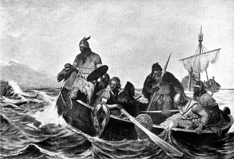 Norwegian Poemgrims (Seekers of Poetic Freedom) about to Land in Iceland*