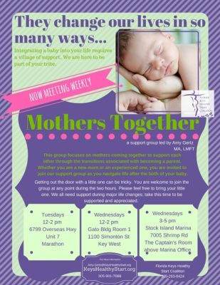 PMAD Support Groups for Mothers Offered in 3 Locations