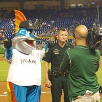 Deputy Honored by Marlins