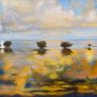 LAST CALL: Painter Sally Stryker Exhibits a Water Dance on Canvas at SALT Gallery