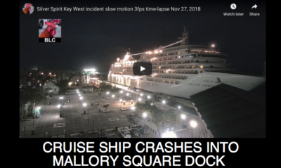Cruise Ship Crashes into Mallory Square Dock [Video]