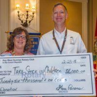 Key West Sunrise Rotary Donates to TSIC, Operation Graduation