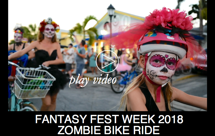 Fantasy Fest Week 2018:  ZOMBIE BIKE RIDE