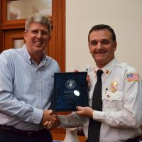 Fire Chief Honored for 30 Years of Service