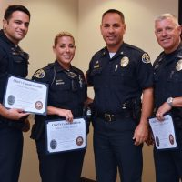 Five Received Chief's Commendation Award