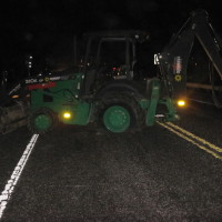 Backhoe Driver Goes Berserk on Seven Mile Bridge