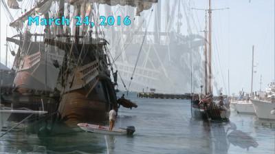 "Key West's Historic Seaport Welcomes ""El Galeon"" and ""Hōkūle'a"""