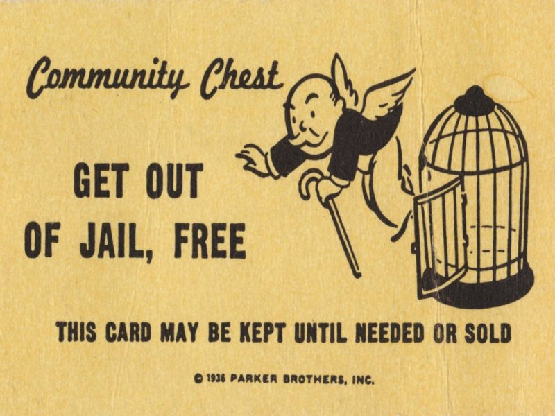 get out of jail free card monopoly