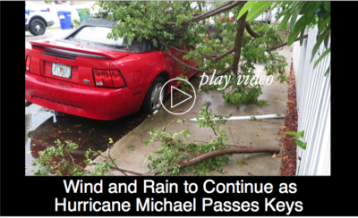 Wind & Rain to Continue as Hurricane Michael Passes Keys
