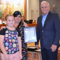 Mayor Commends Poinciana Art Teacher