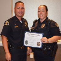 Officer Keohane Receives Chief's Commendation