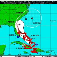 TROPICAL STORM FORCE WINDS EXPECTED TO STRIKE UPPER KEYS EARLY THURSDAY