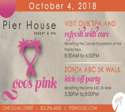"Key West Zonta Club Presents ""Pier House Goes Pink"""