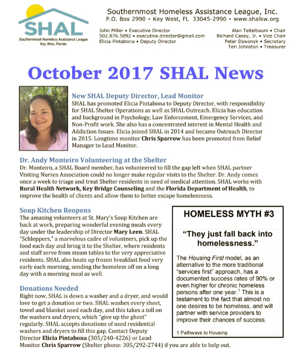 SHAL March Report