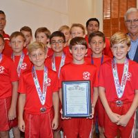 City Commission Commends U12 Boys Travel Team