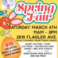 Key West Preschool Co-Op 29th Annual Spring Fair on Saturday March 4th