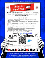 March Against Monsanto, Marathon, Key West, and Worldwide, Saturday