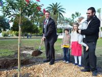 Trees Planted to Honor Sgt. Eric Biskup